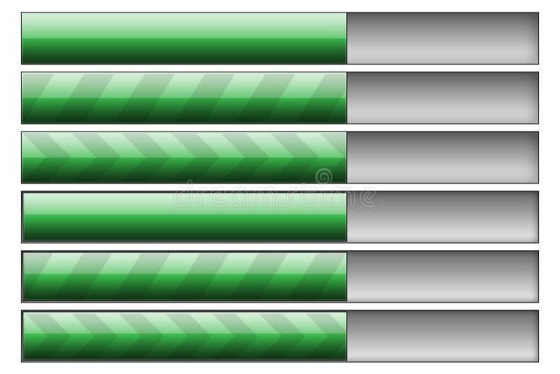 Download Progress bars green stock illustration. Image of cent - 7647562