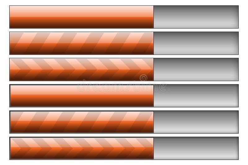Download Progress Bars Orange Royalty Free Stock Photos - Image: 7647558