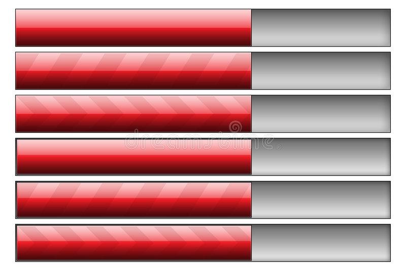 Download Progress bars red stock illustration. Image of software - 7647559