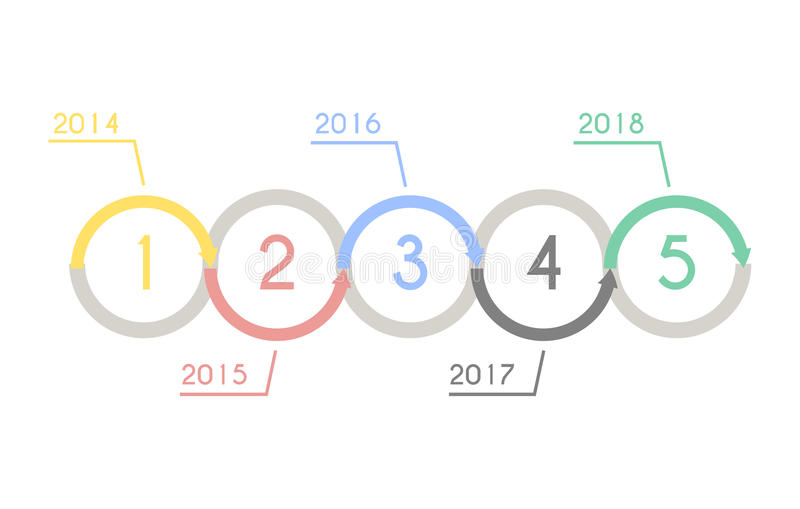 Progress chart statistic concept. Infographic template for presentation. Timeline statistical chart. Business flow process. Progress chart statistic concept royalty free illustration