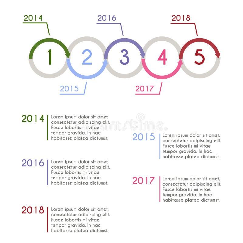 Progress chart statistic concept. Infographic template for presentation. Timeline statistical chart. Business flow process. Progress chart statistic concept stock illustration