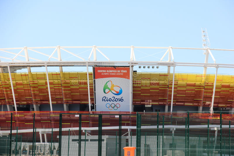 Progress of construction of the Rio 2016 Olympic Park stock image