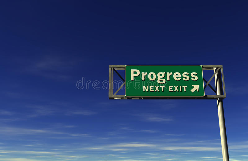 Progress Freeway Sign stock photography