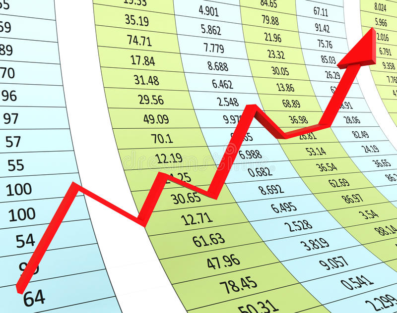 Progress Graph Means Financial Report And Diagram stock illustration