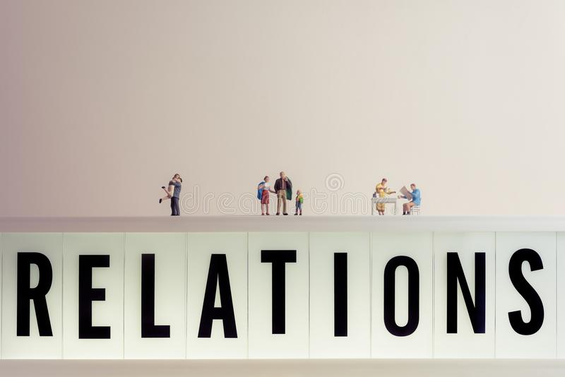 The progress of human relations.  stock photography