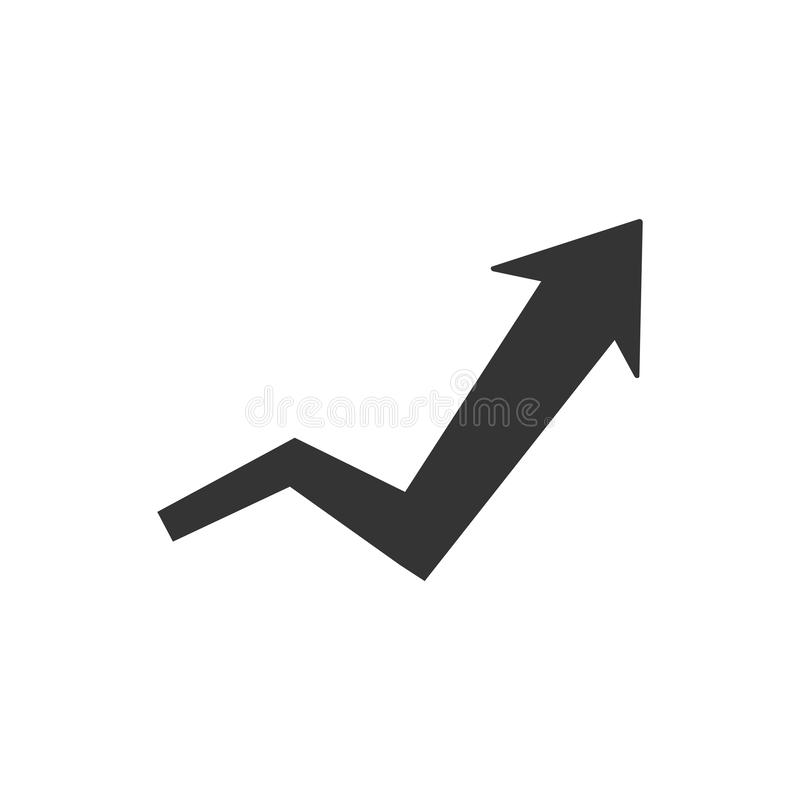 Progress report icon. Simple illustration of a progress report icon royalty free illustration