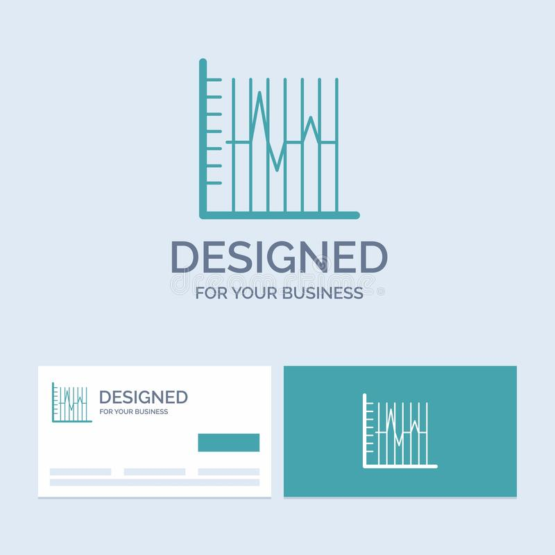 Progress, report, statistics, patient, recovery Business Logo Glyph Icon Symbol for your business. Turquoise Business Cards with. Brand logo template.. Vector vector illustration