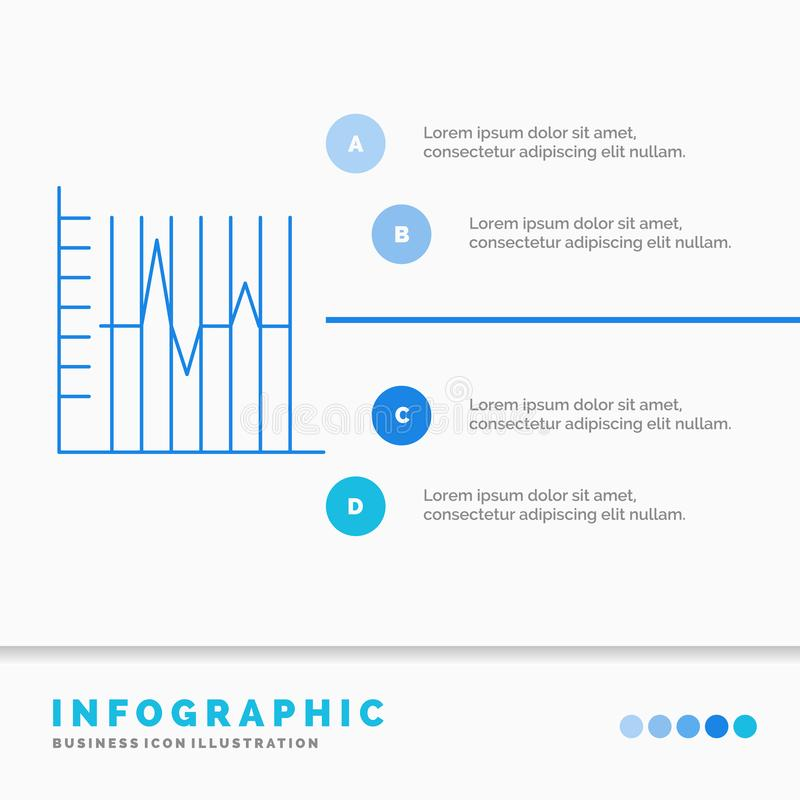 Progress, report, statistics, patient, recovery Infographics Template for Website and Presentation. Line Blue icon infographic. Style vector illustration vector illustration
