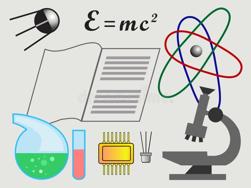 Progress in science vector illustration