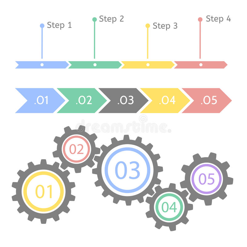 Progress statistic concept. Infographic template for presentation. Timeline statistical chart. Business flow process. Progress statistic concept. Infographic royalty free illustration