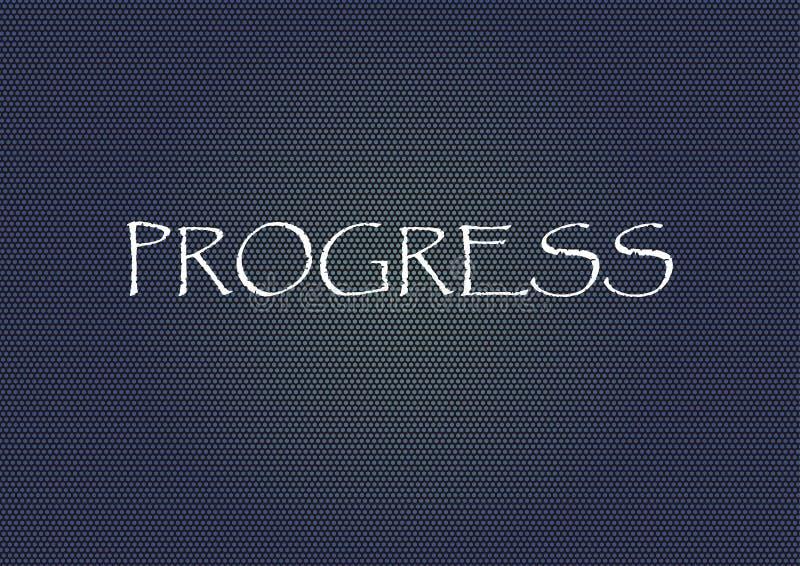 Progress technology style Vector illustration for design. Progress Vector illustration for design royalty free illustration