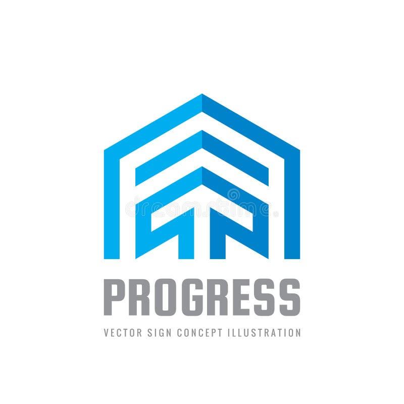 Progress Vector Sign Template Concept Illustration Arrow Creative