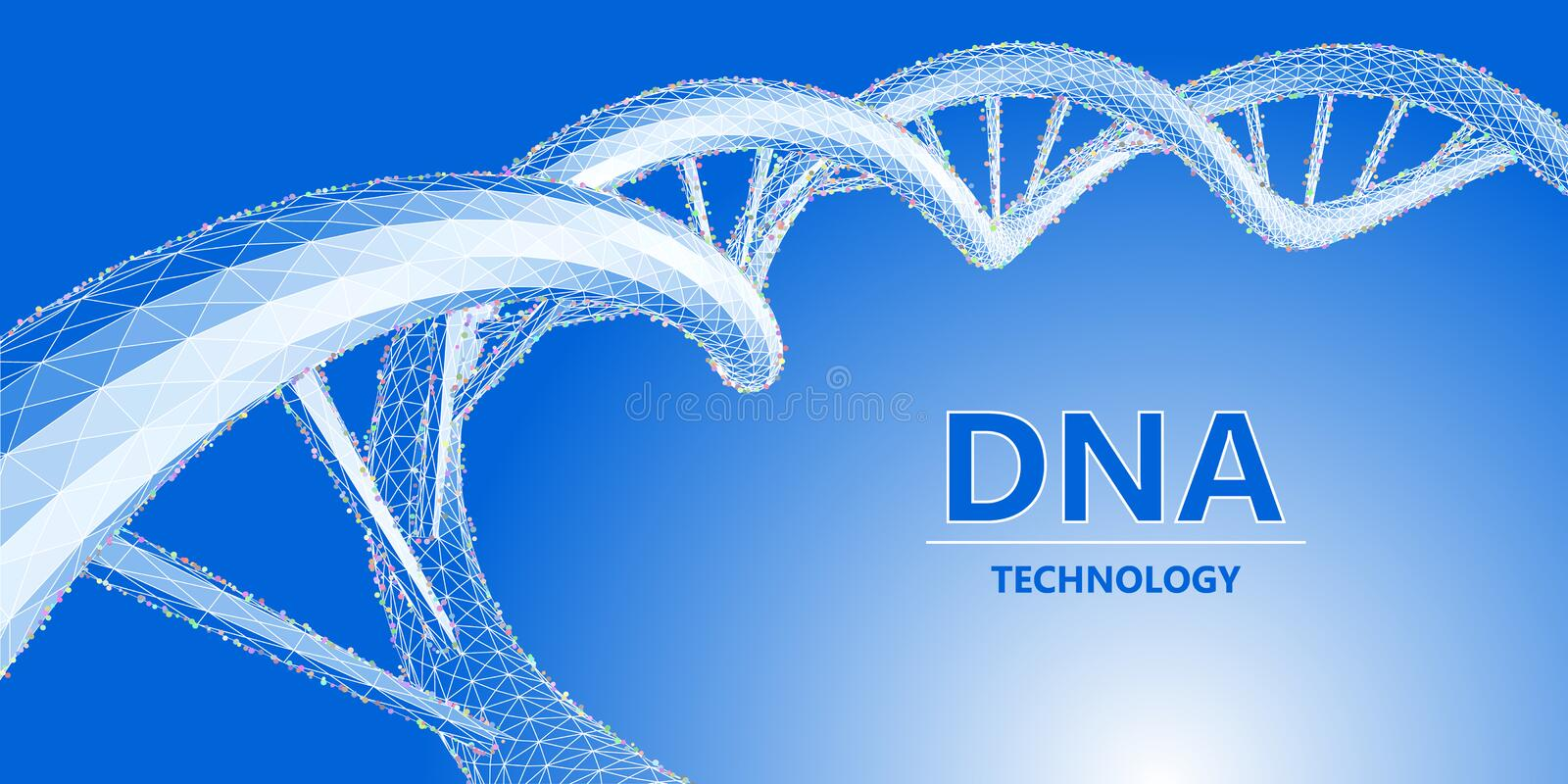 Progressive biology technology.  Structure DNA grid molecule. Science concept. Vector illustration. Progressive biology technology. Structure DNA grid n molecule royalty free illustration