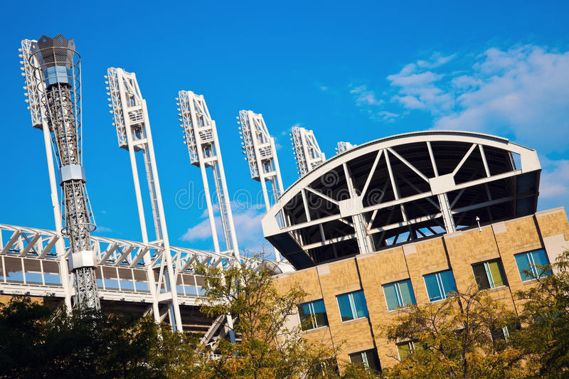Progressive Field. Stadium in the center of Cleveland royalty free stock photography