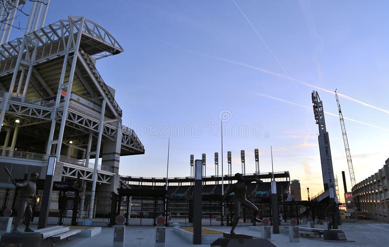 Progressive Field Baseball Park. Progressive Field is a baseball park located in downtown Cleveland, Ohio, United States. Home field of the Cleveland Indians of royalty free stock images