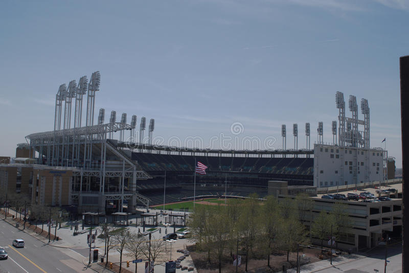 Progressive Field - Cleveland, OH. Home of Cleveland Indians, Cleveland OH royalty free stock photos