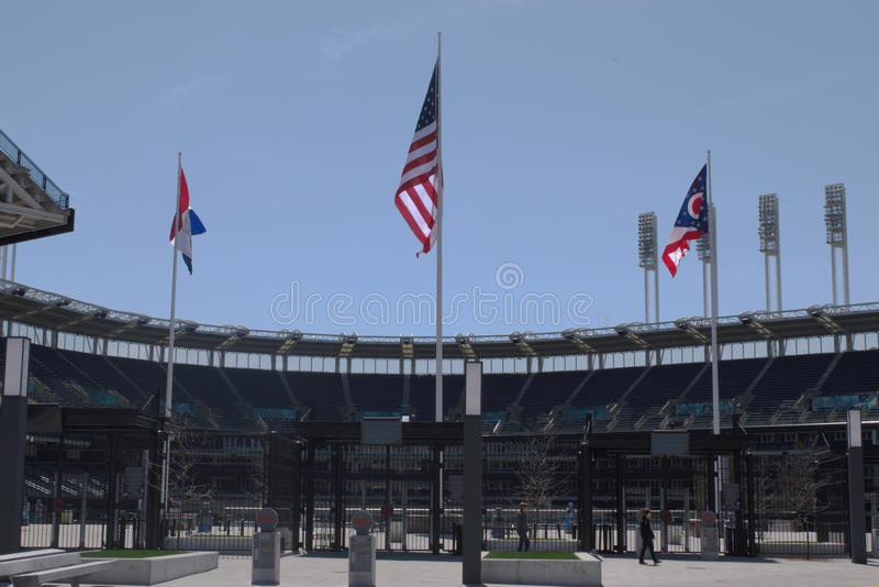 Progressive Field, Cleveland, OH. Home of Cleveland Indians, Cleveland, OH royalty free stock photos