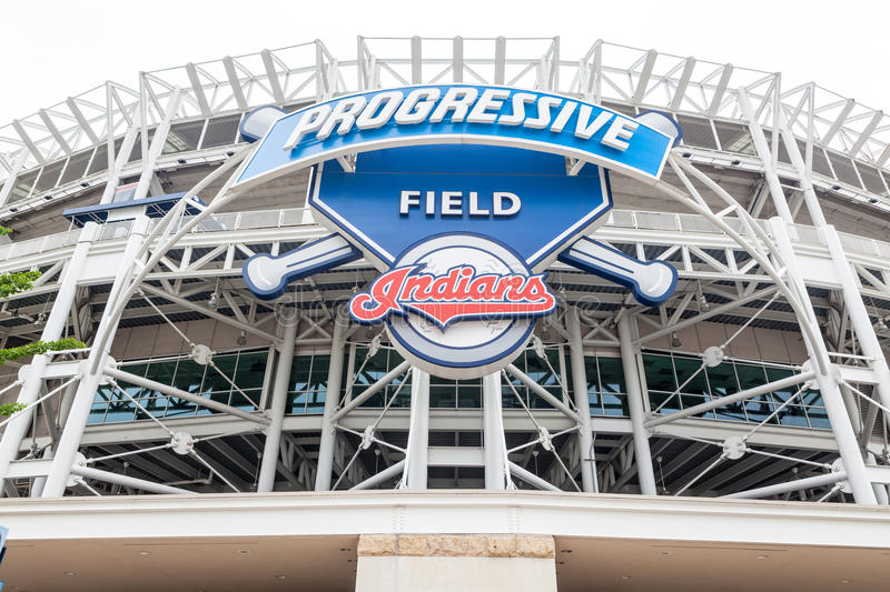 Progressive Field in Cleveland, Ohio royalty free stock image