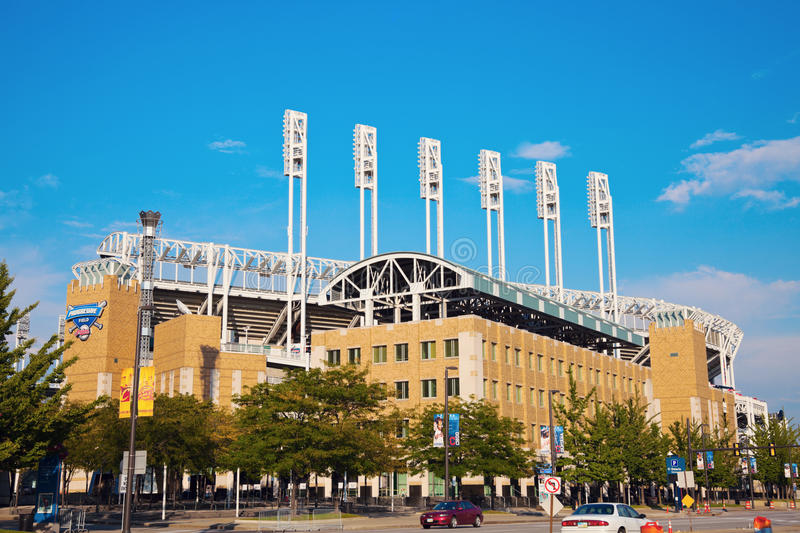 Progressive Field stadium. In the center of Cleveland royalty free stock image