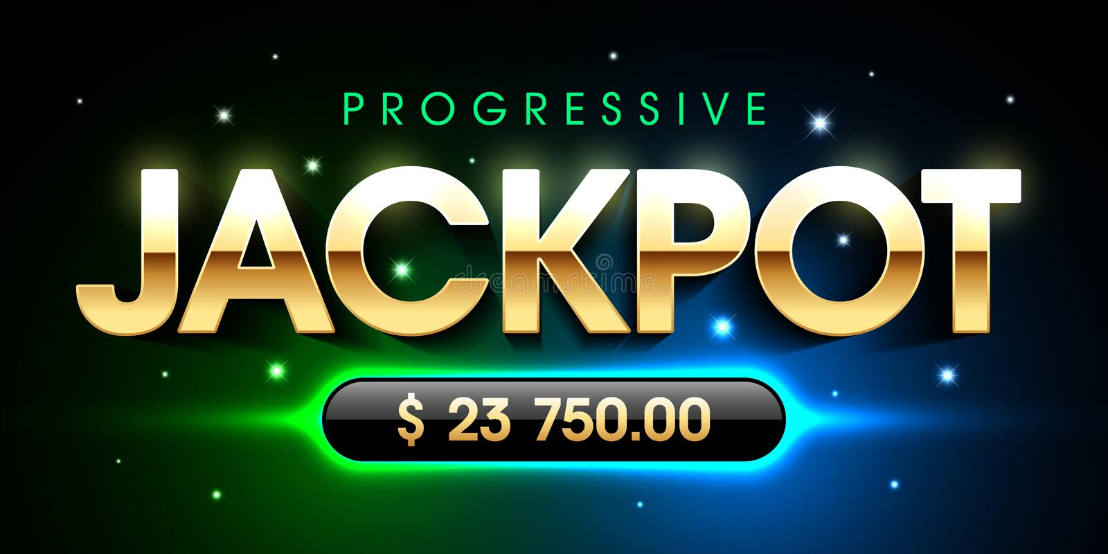 Progressive Jackpot vector illustration
