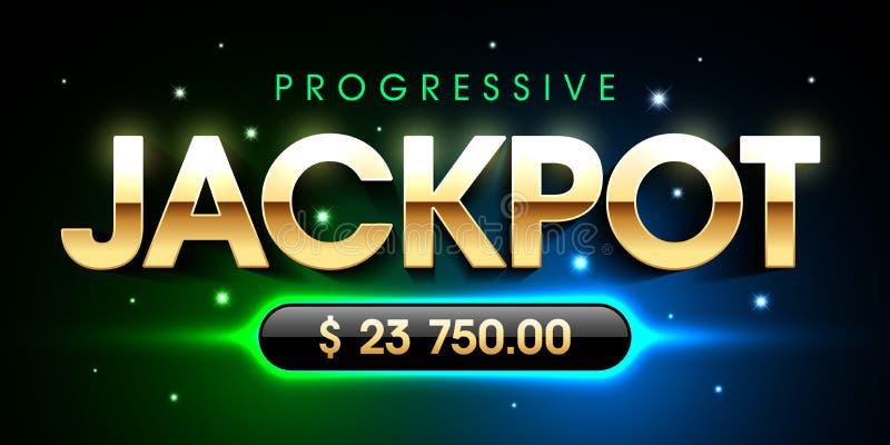Progressiver Jackpot vektor abbildung