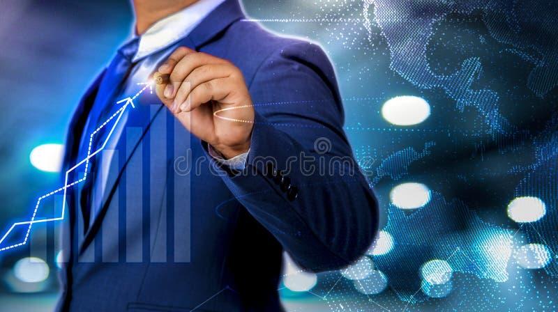 Progresso di affari e successo degli scopi di media misti illustrazione vettoriale