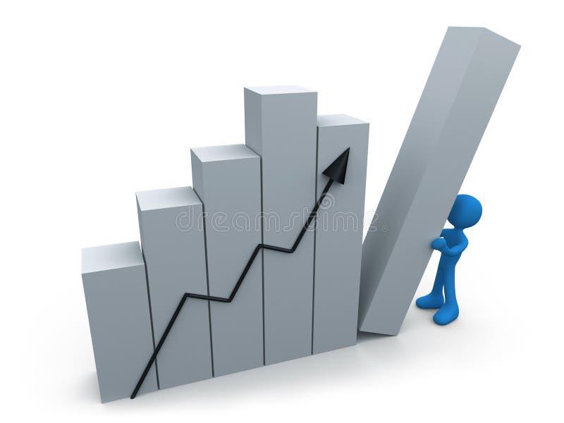 Progresso do negócio ilustração stock