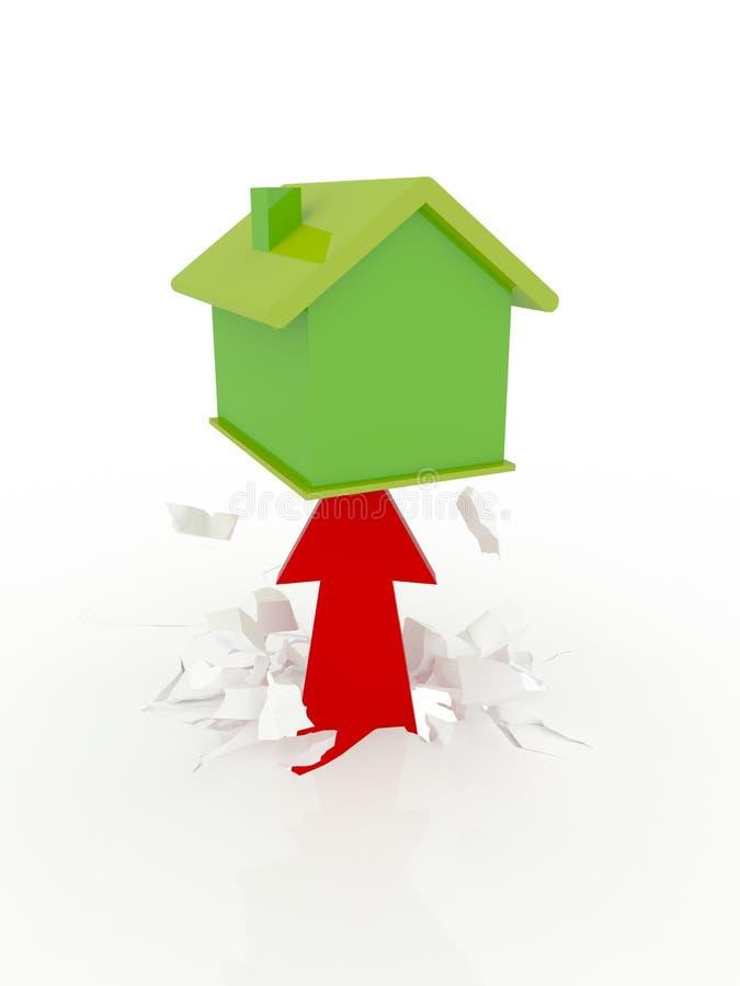 Progresso dos bens imobiliários ilustração stock