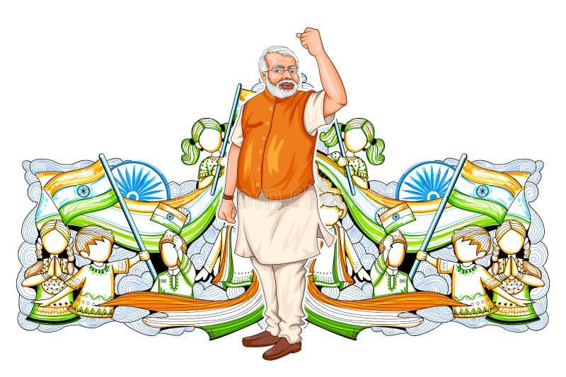 Progresso e desenvolvimento da exibição da colagem que descrevem a aumentação da Índia ilustração do vetor