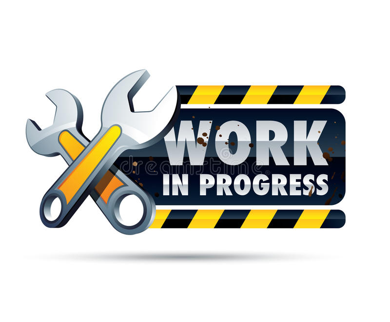 progressteckenarbete stock illustrationer
