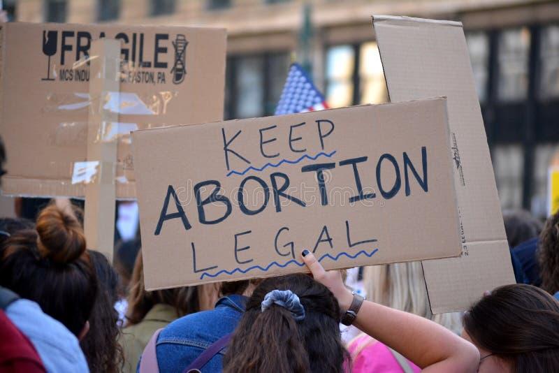 Proh?ba las derechas del aborto de la prohibici?n protestan fotos de archivo libres de regalías