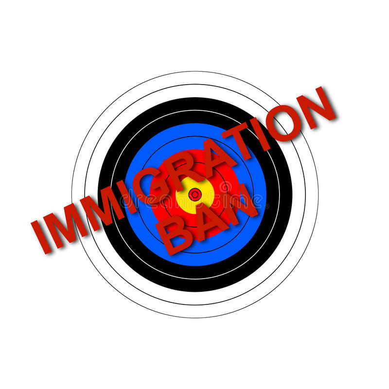 Prohibición de la inmigración de la blanco imágenes de archivo libres de regalías