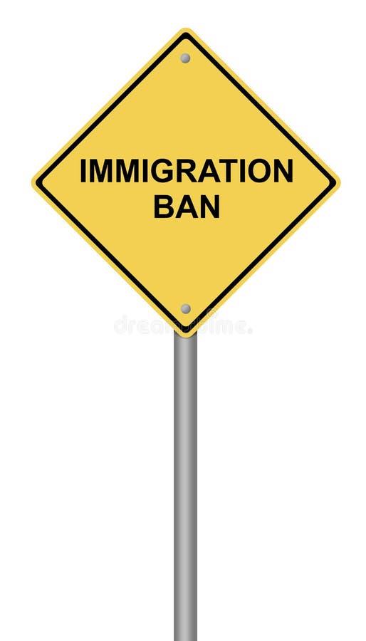 Prohibición de la inmigración de la señal de peligro imagen de archivo