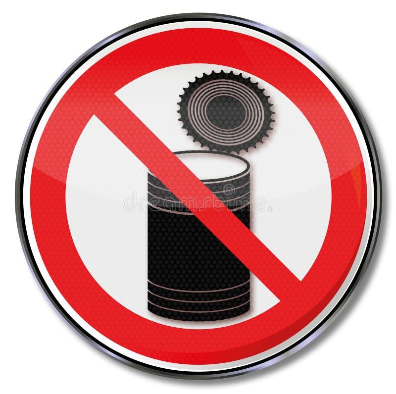 Prohibición para abrir una dosis de enlatado libre illustration