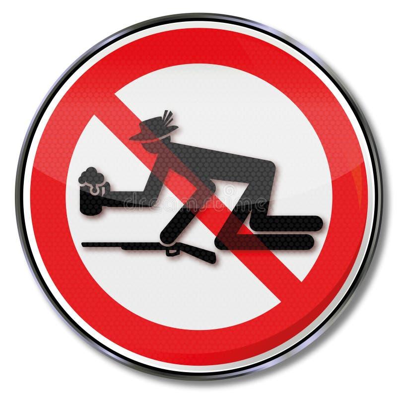Prohibición para los drunks y proteger la celebración del festival del ` de los ciudadanos libre illustration