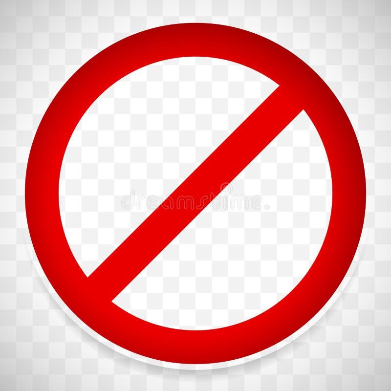 Prohibicja drogowy znak z cieniem Ograniczenie, ograniczenie znak ilustracja wektor