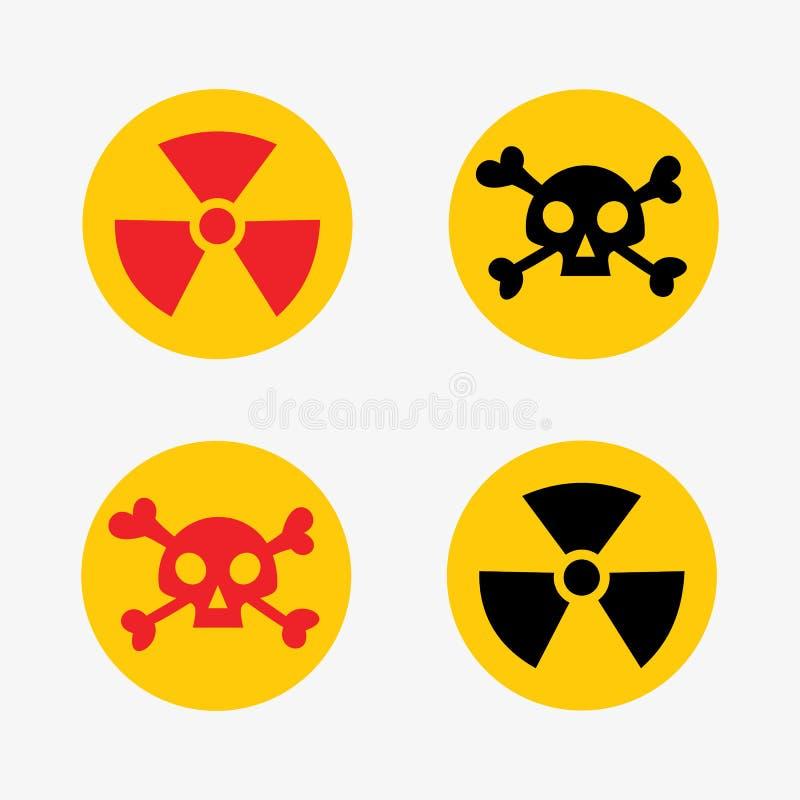 Prohibicja podpisuje ustalonej przemysł paliwowy produkci niebezpieczeństwa wektorowego żółtego czerwonego ostrzegawczego symbol  ilustracja wektor