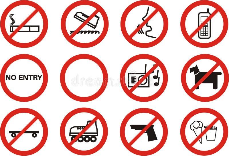 Prohibido fotos de archivo libres de regalías