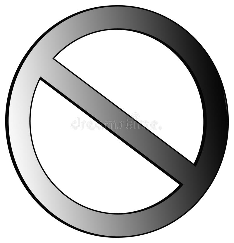 Free Prohibited And Forbidden NO Metallic Circle With Slash Sign On Transparent Bed And Transparent Background Stock Image - 208918731