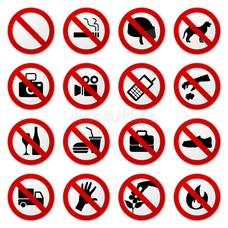 Free Prohibited No Stop Sign Royalty Free Stock Photography - 16681137