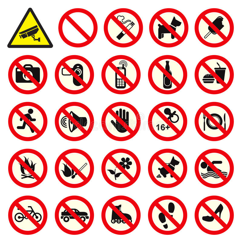 Free Prohibited No Stop Sign Stock Photos - 36283143