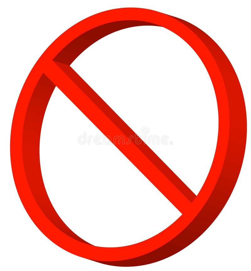 Prohibited symbol stock vector. Illustration of disallowed ...