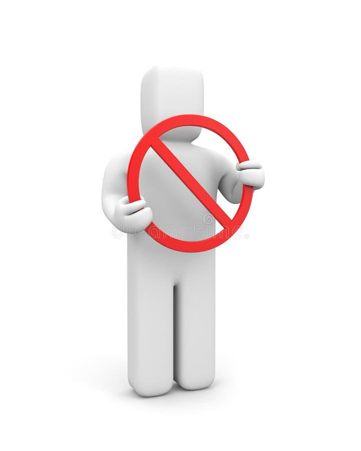 Prohibiting sign stock illustration