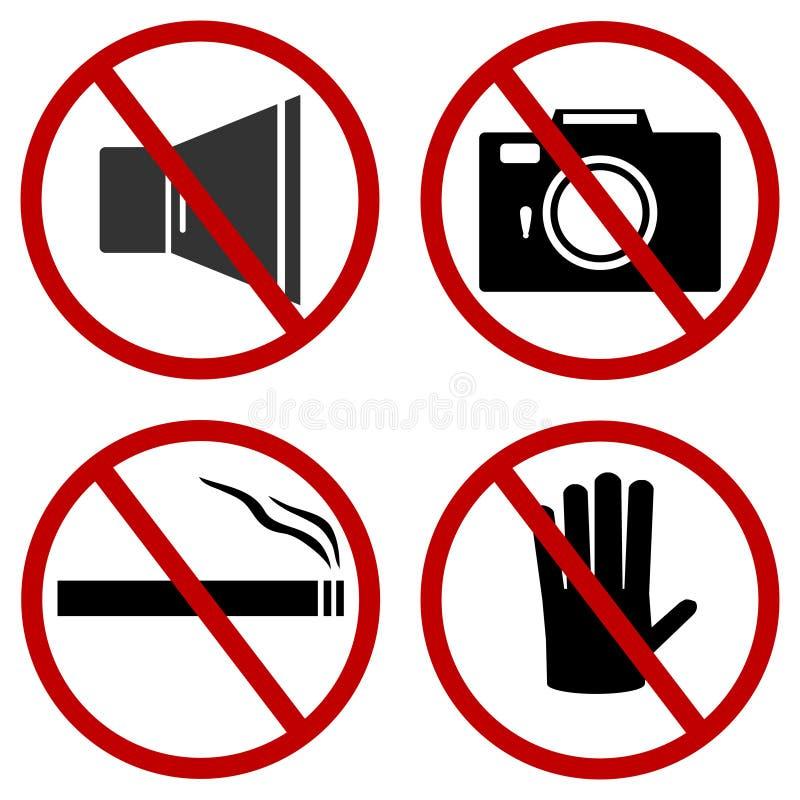 Prohibiting signs. vector illustration