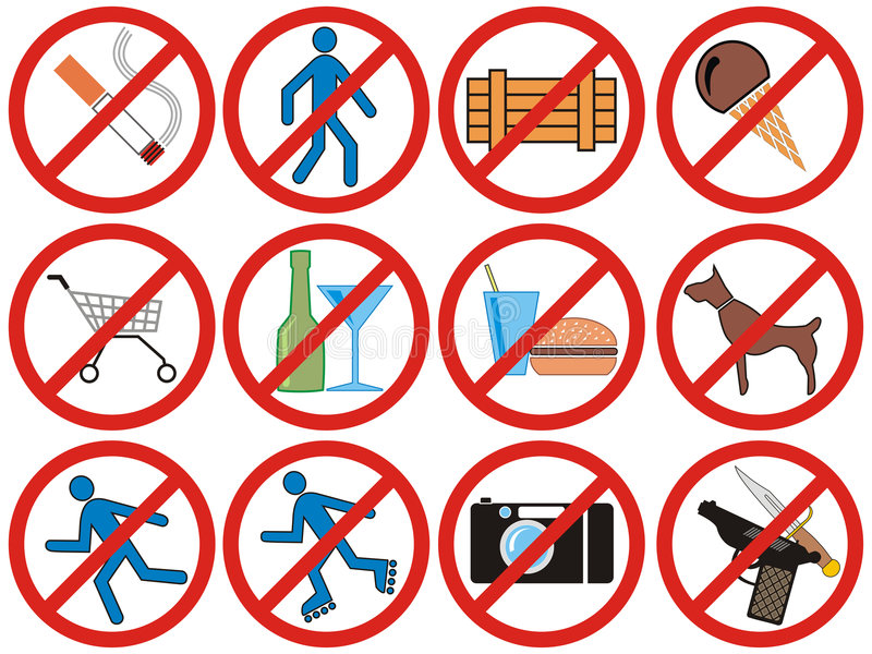 Download Prohibiting Signs (Vector) Stock Photo - Image: 7862370