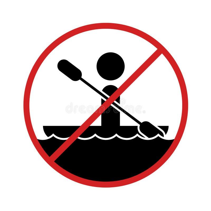 Prohibition boat zone sign. Creative design of Prohibition boat zone sign stock illustration