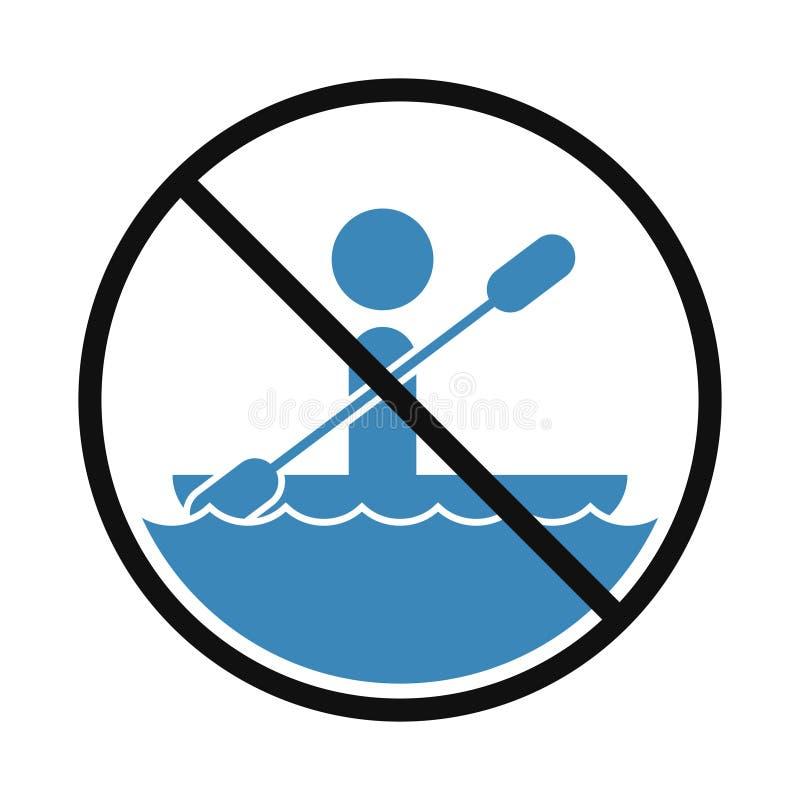 Prohibition boat zone sign. Creative design of Prohibition boat zone sign royalty free illustration