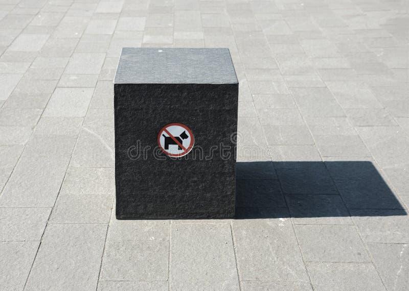 Prohibition of dog entry stock photos