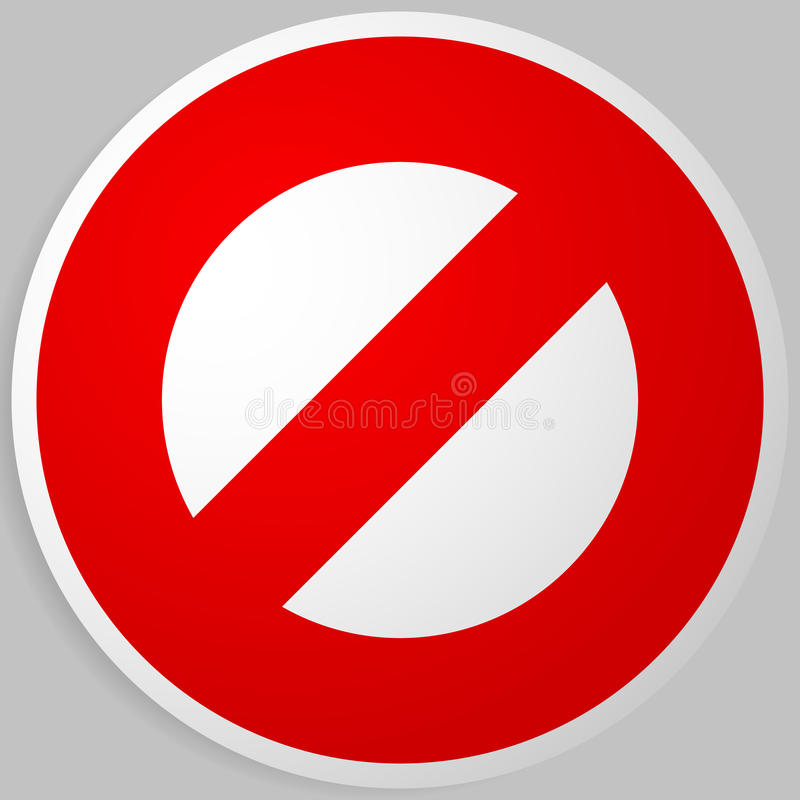 Prohibition, restriction. Red strike-through road signs. Red do. Not entry, no entrance, keep out sign, icon - Royalty free vector illustration stock illustration