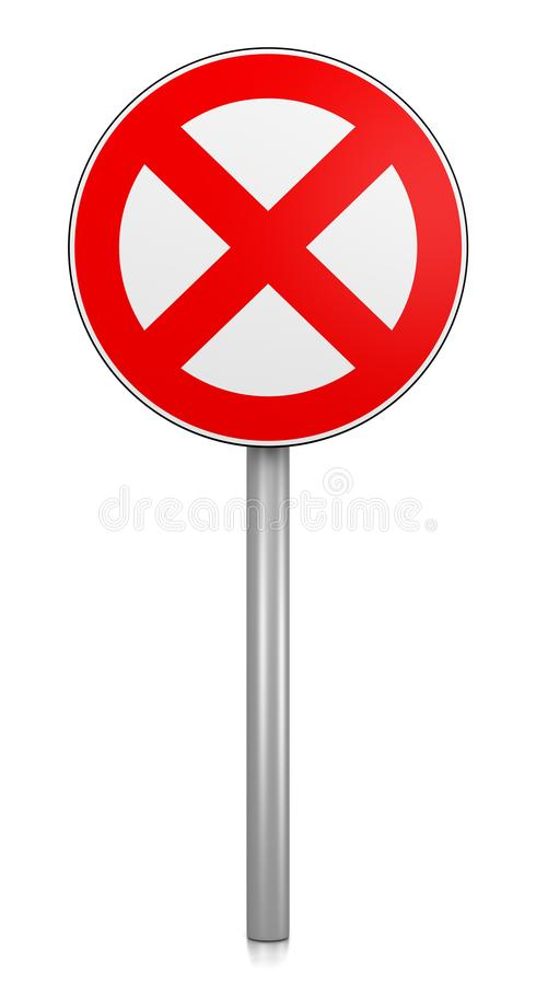 Prohibition Road Sign vector illustration
